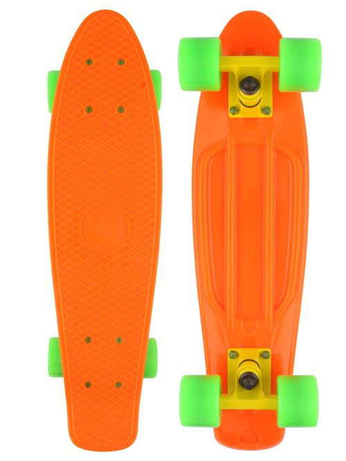 Naked Fluorescent Orange Deluxe Skateboard