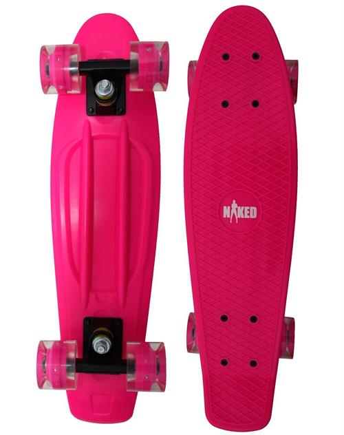 Naked Cruiser Pink Flash/LED skateboard