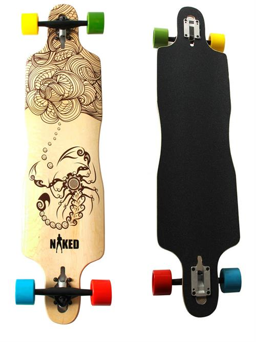 Naked Scorpion Twister Longboard