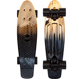 Penny Black / Gold Skateboard 22""