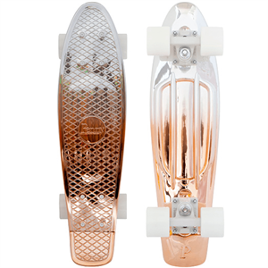 Penny White / Copper Skateboard 22""